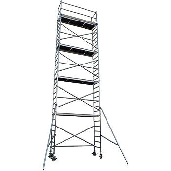 Andamio aluminio Torre PRO 75X250 - altura de trabajo 10.2 m: Amazon.es: Bricolaje y herramientas