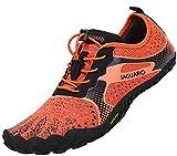 SAGUARO Barefoot Zapatos de Trail Running Hombre Mujer Minimalistas Escarpines Zapatillas de Deportes Acuáticos Secado Rápido para Exterior Interior, Naranja 36