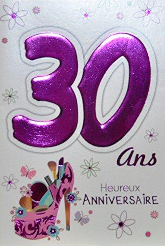 Age Mv 69-2029 Carte Anniversaire 30 ans Femme motif Belle...
