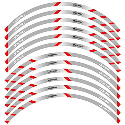 para B-M-W G310R G310 R Pegatinas De Borde Exterior De Motocicleta Ruedas Borde De Película Calcomanías Reflectantes Pegatina De Decoración De Neumáticos (Color : 14)