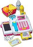 Dokado Elektrische Kinder Spiel Kasse Kaufmannsladen Kaufladen Spielzeug Registrierkasse Spielkasse