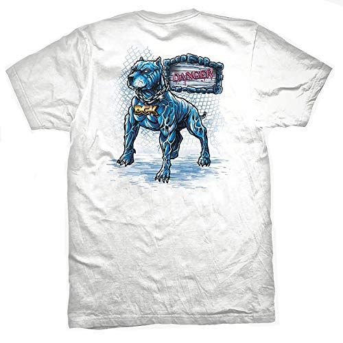 DGK Men's Back Off Short Sleeve T Shirt White XL