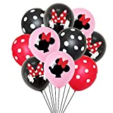 Hongkai 20pcs Mickey Mouse Minnie Theme Latex Balloons Set for Baby Kids Birthday Happy Birthday Party Baby Shower Anniversary Wedding Party Decorations Supplie