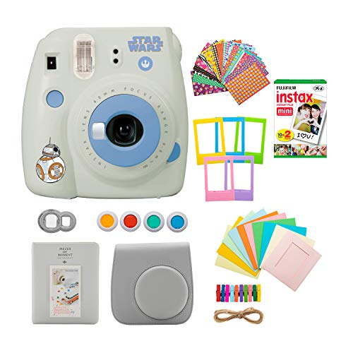 Fujifilm instax Mini 9 Instant Camera (Star Wars) with 20 Twin Film Pack and 7-1 Accessory Bundle (3 Items)