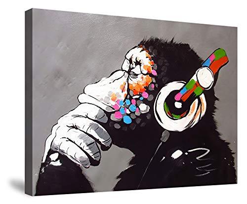 ポスター バンクシー Banksy チンパンジー アートパネル アートフレーム キャンバスアート フレーム装飾画 壁掛け 壁アート 壁飾り 現代 インテリア 絵 おしゃれ モダンアート 壁アート 40x50cm