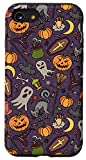iPhone SE (2020) / 7 / 8 Halloween Pumpkins Black Cat Bats Witch Ghost Skull Candy Case