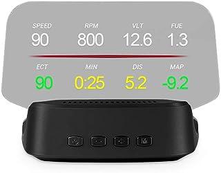 Romacci Display do HUD do carro, OBD + GPS Head Up Display Velocímetro de alta definição Ferramenta de diagnóstico do carr...