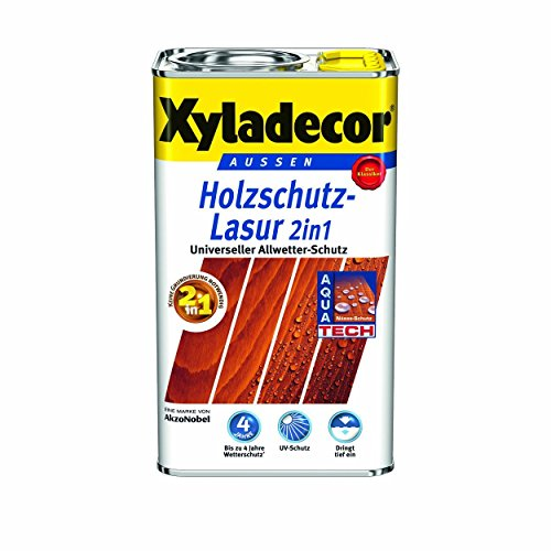 Xyladecor Holzschutzlasur 2in1 Aussen, 5 Liter, Farbton Teak