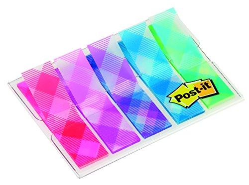 Post-it Lot de 100 Marque-pages 11,9 x 43,2 mm Vichy
