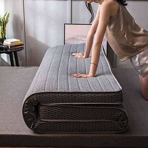 LUGEUK 9 cm de Espesor colchón de Piso Plegable futón japonés Tatami Mat de sueño Antideslizante Estera de Piso Doble Solo futón Estera Estudiante Dormitorio colchón, (Color : B, Size : 150x200cm)
