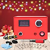 23 Tips Temperature Adjustable Wood Burning Machine Kit, Dual Pen 110V 60W Digital Pyrography Machine for Wood/Leather/Gourd, Best Gifts for Your Family, Red