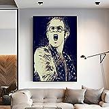 NVRENHUA Elton John Musiksänger Art Canvas Poster Home