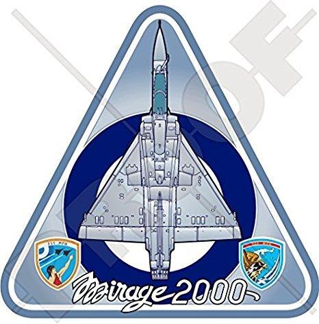 MIRAGE 2000 GRIECHENLAND Dassault Aviation Mirage 2000EG (2000C), 2000-5 Griechisch Hellenic Luftwaffe HAF Flugzeuge, 95mm Auto & Motorrad Aufkleber, Vinyl Sticker