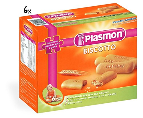 6x PLASMON Kinderkekse Biscotti ab 6 Monaten 600 gr italienische Kekse