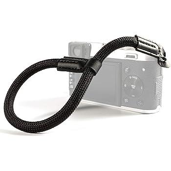 VKO Camera Wrist Strap, Hand Strap Compatible with Sony A6100 A6600 A6400 A6000 A6300 A6500 RX10 IV X100F X-T30 X-T4 X-T3 X-T20 X-T2 E-M10 Mark II III Camera Climbing Rope Black
