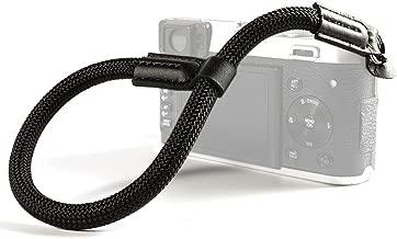 VKO Camera Wrist Strap, Hand Strap Compatible for Sony A6100 A6600 A6400 A6000 A6300 A6500 RXIR II RX10 IV X100F X-T30 X-T3 X-T20 X-T2 E-M10 Mark II IIICamera Climbing Rope Black