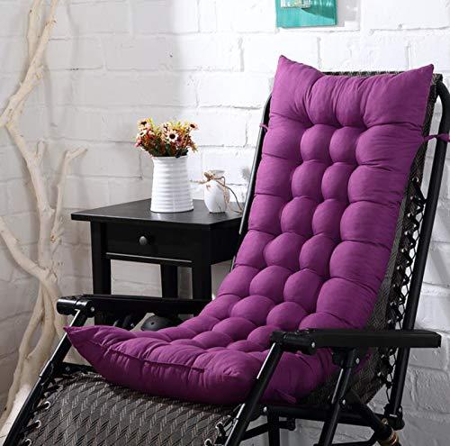 WanJing Cojín de jardín para tumbonas de jardín, acolchado grueso, cojín de cama, cojín de sofá, funda de asiento para viajes, vacaciones, interior, exterior, 125 cm, color morado