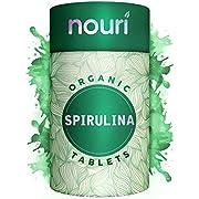 Organic Spirulina Tablets in Premium Quality, 1000 x 500mg | Certified Organic | Non-GMO | Natural & Vegan Protein with Calcium, Magnesium, Iron, Selenium and B Vitamins | 6 Months Supply