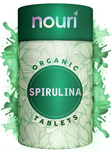 Organic Spirulina Tablets in Premium Quality, 1000 x 500mg | Certified Organic | Non-GMO | Natural & Vegan Protein with Calcium, Magnesium, Iron, Selenium and B Vitamins | 6 Months Supply