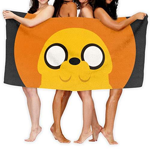 Anganganiel Toallas de baño Adventure Time Jake The Dog Minimalism Toallas Suaves súper absorbentes Toallas de Secado rápido Moda Deportes Viajes Playa Toalla de Piscina 80cm × 130cm