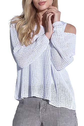 Vestino dames trui oversized en onderhoudsvriendelijk, grof gebreid in netstructuur
