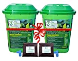 Greenrich Organic Composter 25 ltrs + 1 Bag Microbes (5 ltrs) - Convert Kitchen Waste to Manure -...