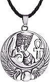 huangxuanchen co.,ltd Collar Collar Collar Nostalgia Faraón Egipcio Cleopatra Amuleto Joyería Cruz Colgante Collar Egipto Talismán para Mujeres Hombres Regalo