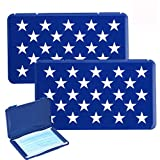 YISUYA Mask Case, Portable Mask Holder, Mask Bag for Recyclable, Dust Mask Storage Box for Mask Pollution Prevention, Mask Container Keeper (2pcs, America Star)