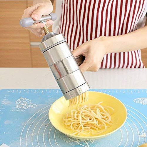 XIAOJIAN Máquina de Pasta pequeña, Manual para el hogar Máquina prensada Manual de Acero Inoxidable Manual Manual manivela manivela extrusora Pasta Maker/Código de Productos básicos: LXJ-230