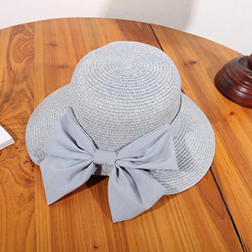 Sonnenhut Hut Strohkappe Damen Sommer Leichte Atmungsaktive Kappen Sonnenschutz Sonnenhut Gegabelt Bogen Sonnenschutz Strand Sonnenhüte Grau