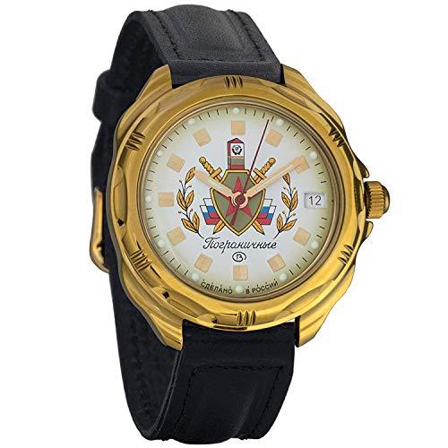 Vostok Komandirskie Pogranichnie Military Russian Frontier Guard Commander Watch 2414 / 219553