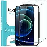 laxikoo 3 Pezzi Vetro Temperato Compatibile con iPhone 12, iPhone 12 Pro Pellicola Protettiva (6,1''), 9H Durezza Protezione Schermo con Cornice di Allineamento Compatibile con iPhone 12/12 Pro