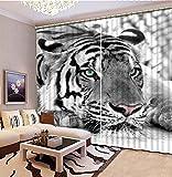 NBVGHJ Sombreado De Lujo 3D Animal Tigre Cortinas Sala De Estar Dormitorio Ropa...