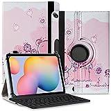 Tablet Hülle kompatibel für Xiaomi Mi Pad 5 / Pro Tasche Schutzhülle Bluetooth Hülle Universal Keyboard Cover Standfunktion 360° Drehbar, Farben:Motiv 2