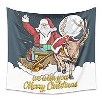 壁のタペストリー壁のタペストリー,クリスマスのテーマツリーサンタクロースエルクギフトクリスマスパーティー写真背景写真の背景装飾写真スタジオの小道具-B_73x95CM