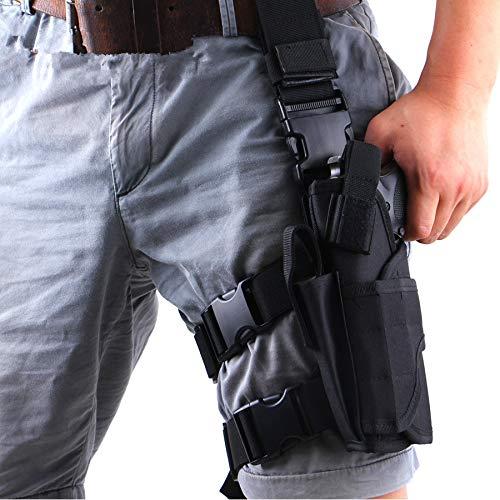 Gexgune Tornado Taktische Oberschenkel Drop linkes Bein verstellbare Pistole Pistole Pistole Beutel Wargame Airsoft Nylon Beutel