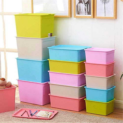 Opbergdoos voor kinderen Tidy Storage Chest Toy Box for meisjes en jongens - Perfect for huishoudelijke opslag, Stoffen Of Toys Mand voor Bedroom (Color : Green, Size : Free size)
