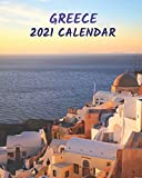 Greece 2021 Calendar: Monthly Illustrated Calendar 2021 with Images of Greece