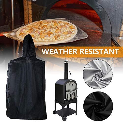 hook.s Hochleistungs-Pizzaofenabdeckung für den Außenbereich, wasserdichtes, staubdichtes Anti-UV-Pizzaofen für den Außenbereich (160 x 37 x 50 cm)