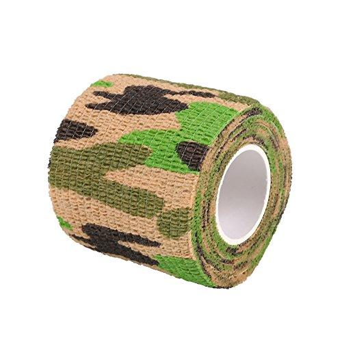 Forfar Beautyrain 1 pc Bande de Camouflage 5cmx2m Camouflage Stealth Tape Camo Wrap Camping Tir à la Carabine de Chasse