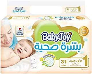 BabyJoy Healthy Skin, Size 1, Newborn, 0-4 kg, Value Pack, 31 Diapers