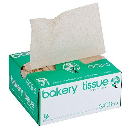 """耐久性パッケージ6"""" x 103/4""""グリーンChoice InterfoldedクラフトUnbleachedブラウン大豆ワックスBakery Tissue"""