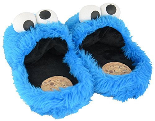 Miettes Monster Chaussons en peluche taille 38–40 Chaussures Pantoufles en peluche peluche Sesame Street Cookie Monster (