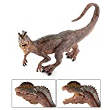 Fantarea Dinosaur World Simulated Figures Action Collection Model Kid Toys (Dilophosaurus)