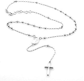 grande vendita 02066 6c8e5 Amazon.it: rosario collana uomo - Argento: Gioielli