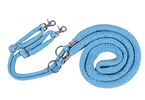 QHP Longierhilfe Longierleine Longe Bodenarbeit 4 Farben 4 Größen (L, hellblau)