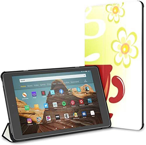 Estuche para Taza de Bebida Caliente con Tableta Coffee Fire HD 10 (9.a / 7.a generación, versión 2019/2017) Estuche para Kindle Fire HD Fire 10 Estuche Auto Wake/Sleep para Tableta de 10.1 Pulgada