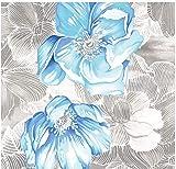 HomeLife Piumone Matrimoniale Invernale Fantasia Floreale Azzurra 250X250 | Piumone Letto Autunno/Inverno Double Face | Trapunta Matrimoniale Calda Anallergica | Piumino Microfibra Colorato | Azz, 2P