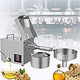 BIWAHumor Extracción Automática Aceite de Prensado en Frío y en Caliente, Máquina de Prensado Aceite de Semillas de Nueces Comerciales, para Coco, Girasol, Nueces, Frijoles, Semillas (Color : 110v)
