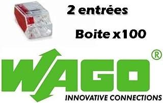 WAGO - 100 Wago 2 entrées, borne de connexion automatique tranparente